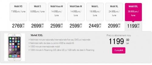 pretul iPhone 6S Telekom