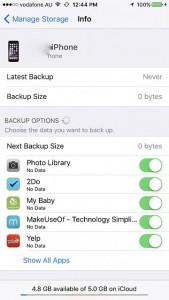 probleme backup iCloud iOS 9