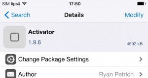 Activator 1.9.6 pentru iOS 9