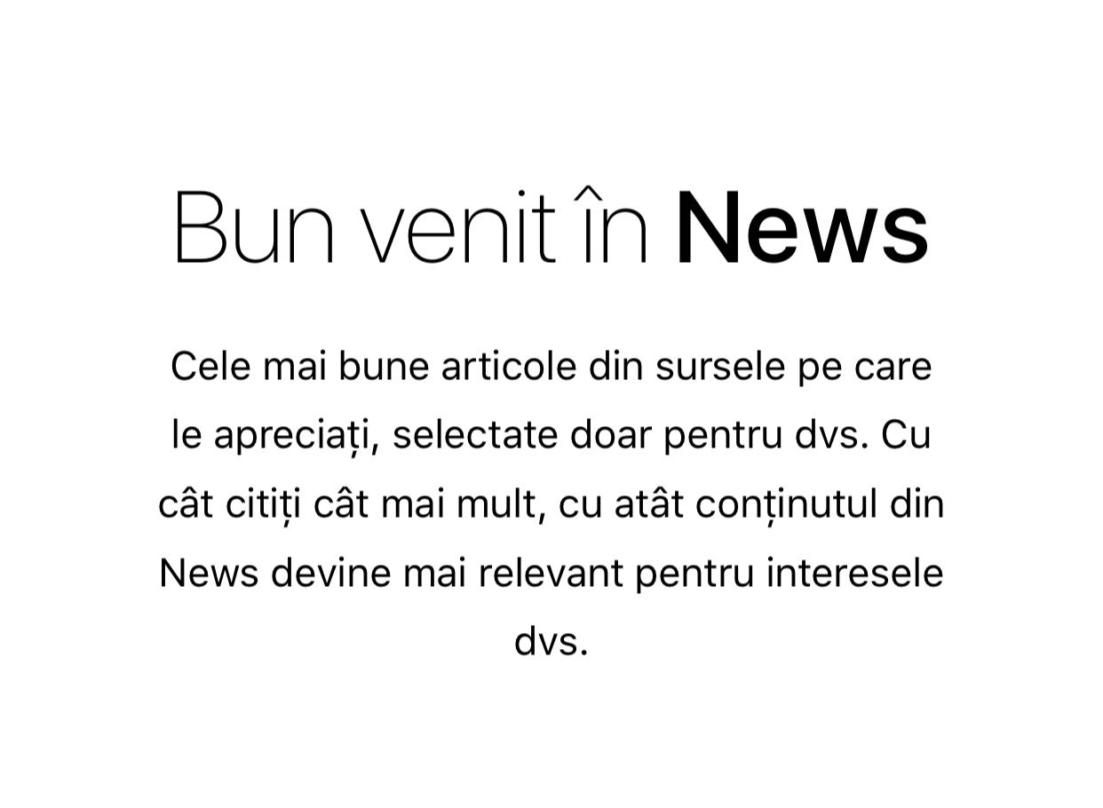 Aplicatie News blocata