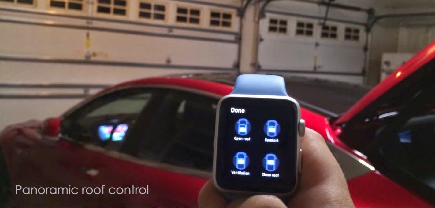 Apple Watch control tesla