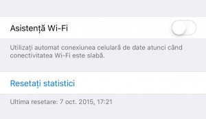 Asistenta Wi-Fi iOS 9