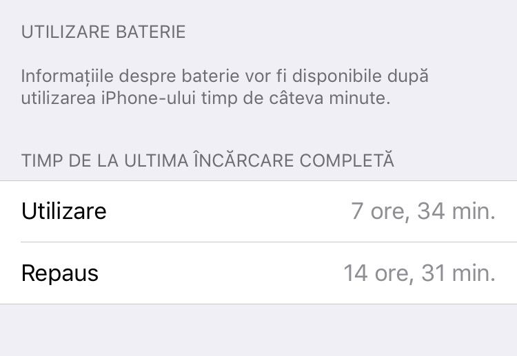Autonomie baterie iPhone 6S