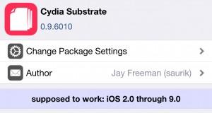 Cydia Substrate 0.9.6010 iOS 9 jailbreak Pangu9