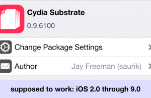 Cydia Substrate 0.9.6100
