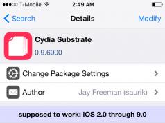 Cydia Substrate iOS 9
