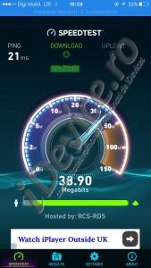 Primul test de viteza in Digi Mobil 4G