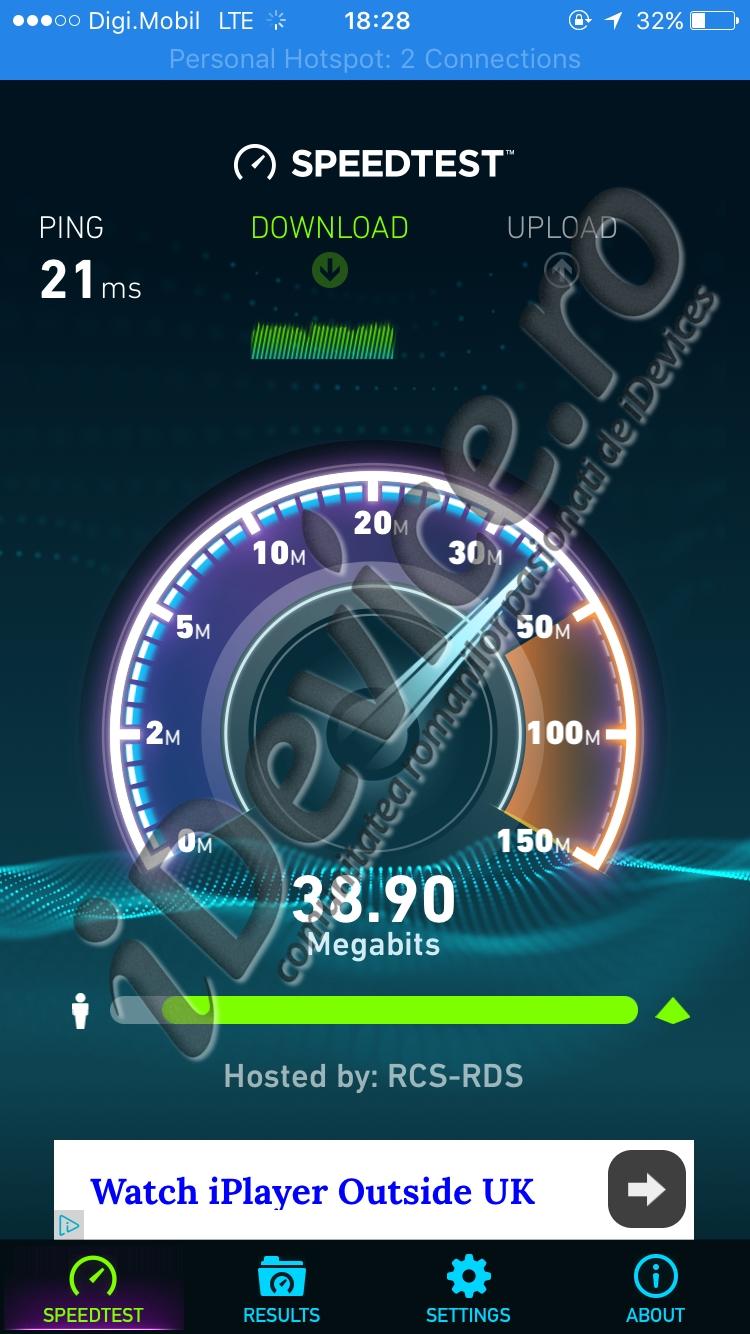 Digi Mobil 4G viteza internet