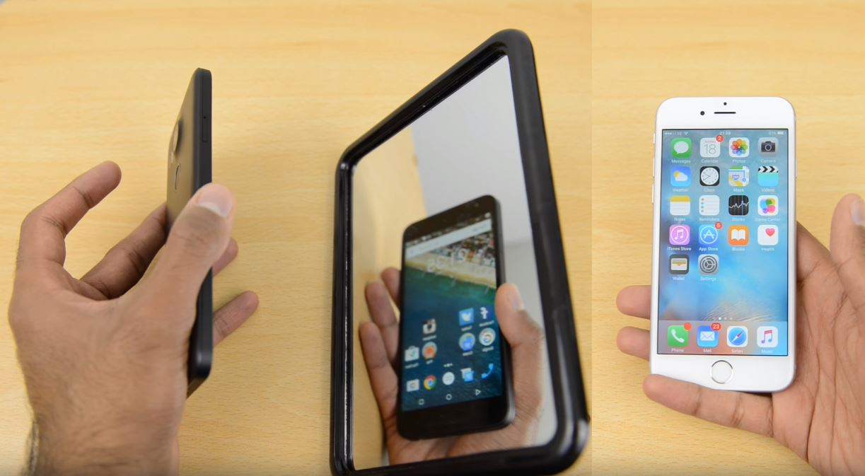 Nexus 5X vs iPhone 6S cititor amprente