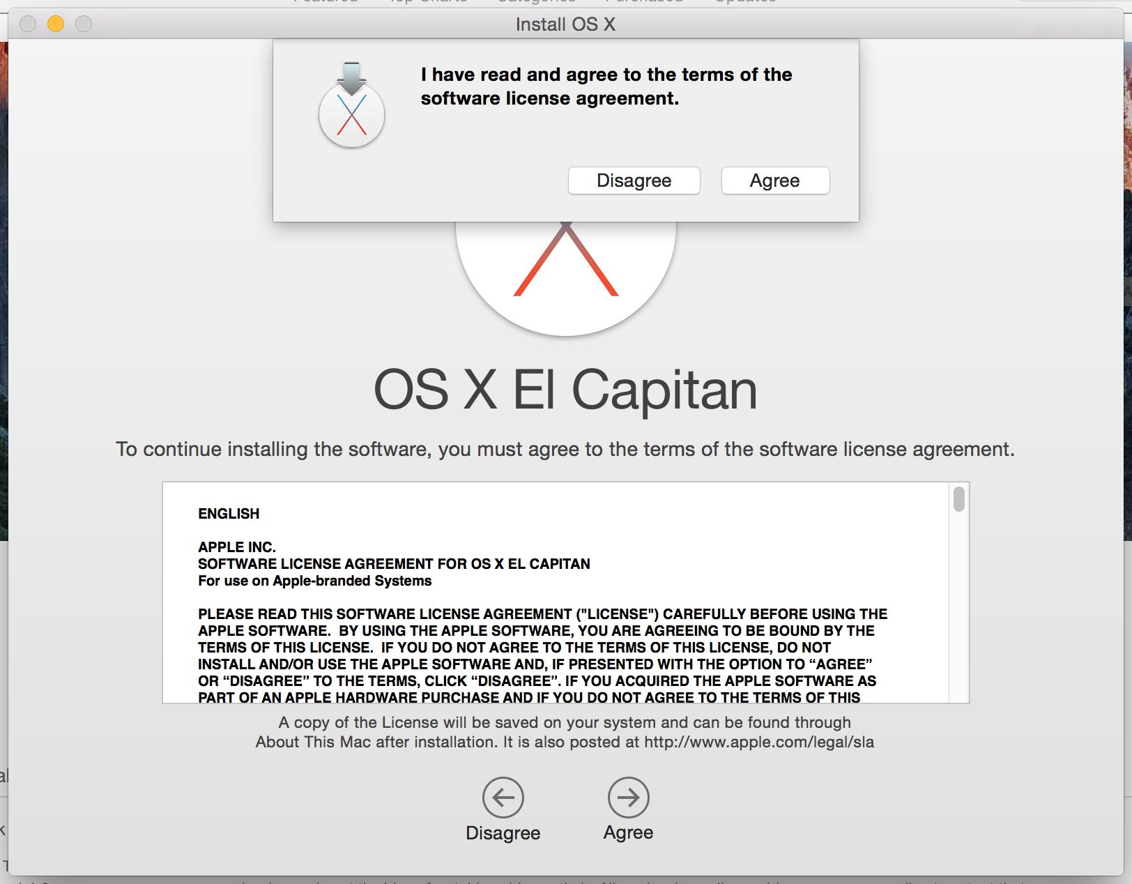OS X EL Capitan 10.11 termeni si conditii