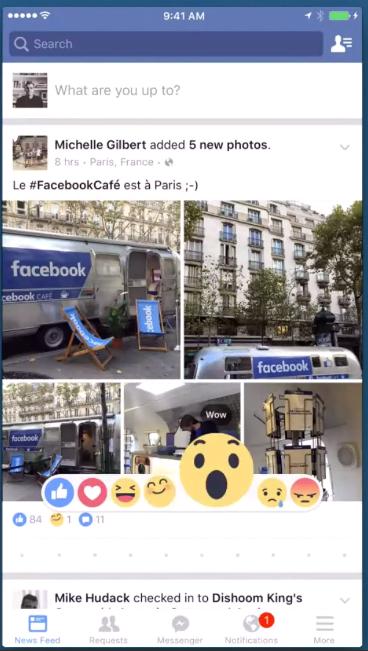 Reactii Facebook - cum arata butoanele Love, Sad, Angry si nu numai 1