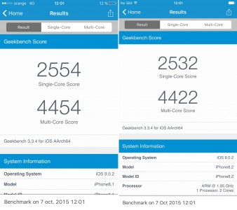 Review iPhone 6S si iPhone 6S Plus performante chip A9