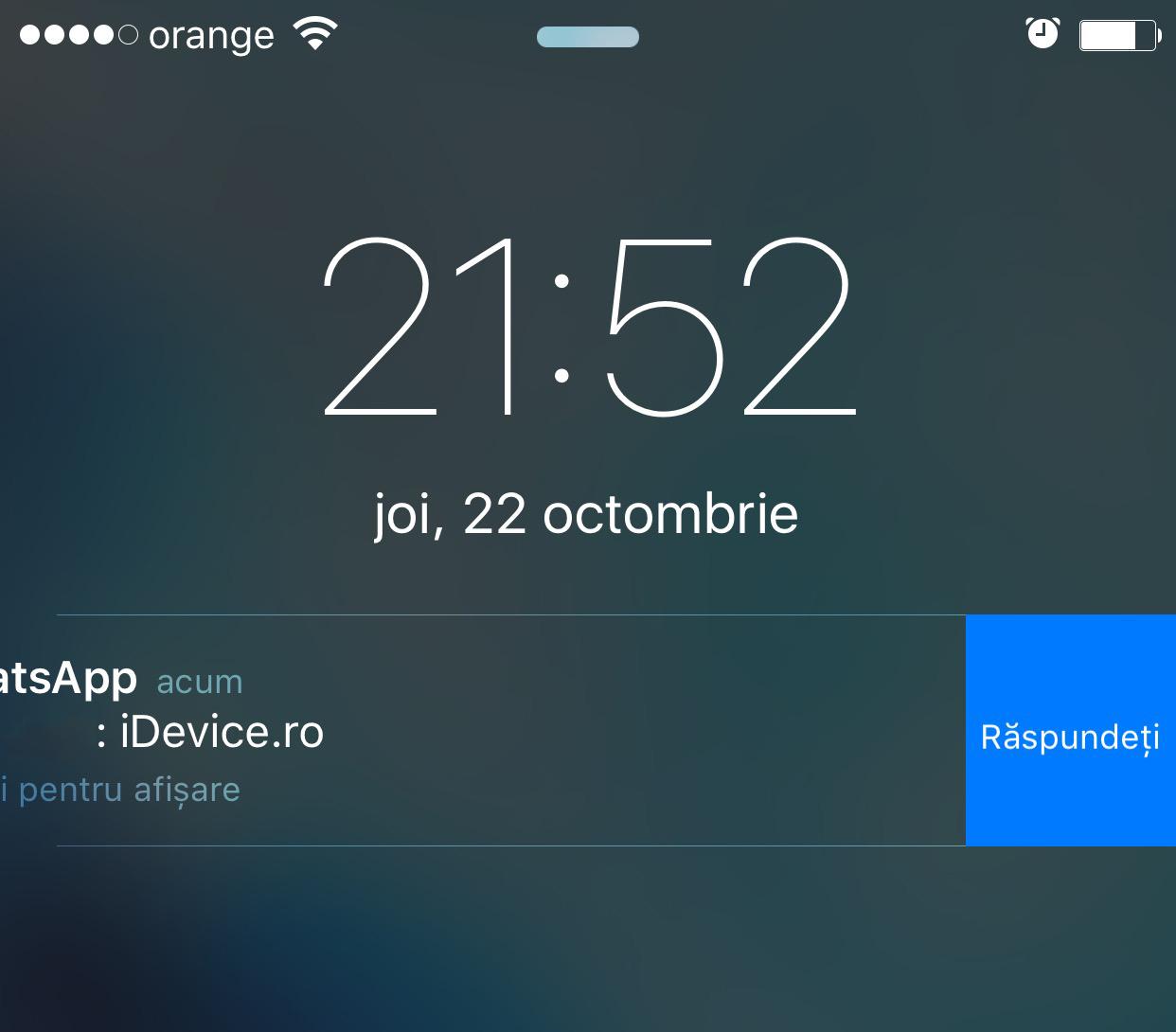WhatsApp Messenger Quick Reply iOS 9 1