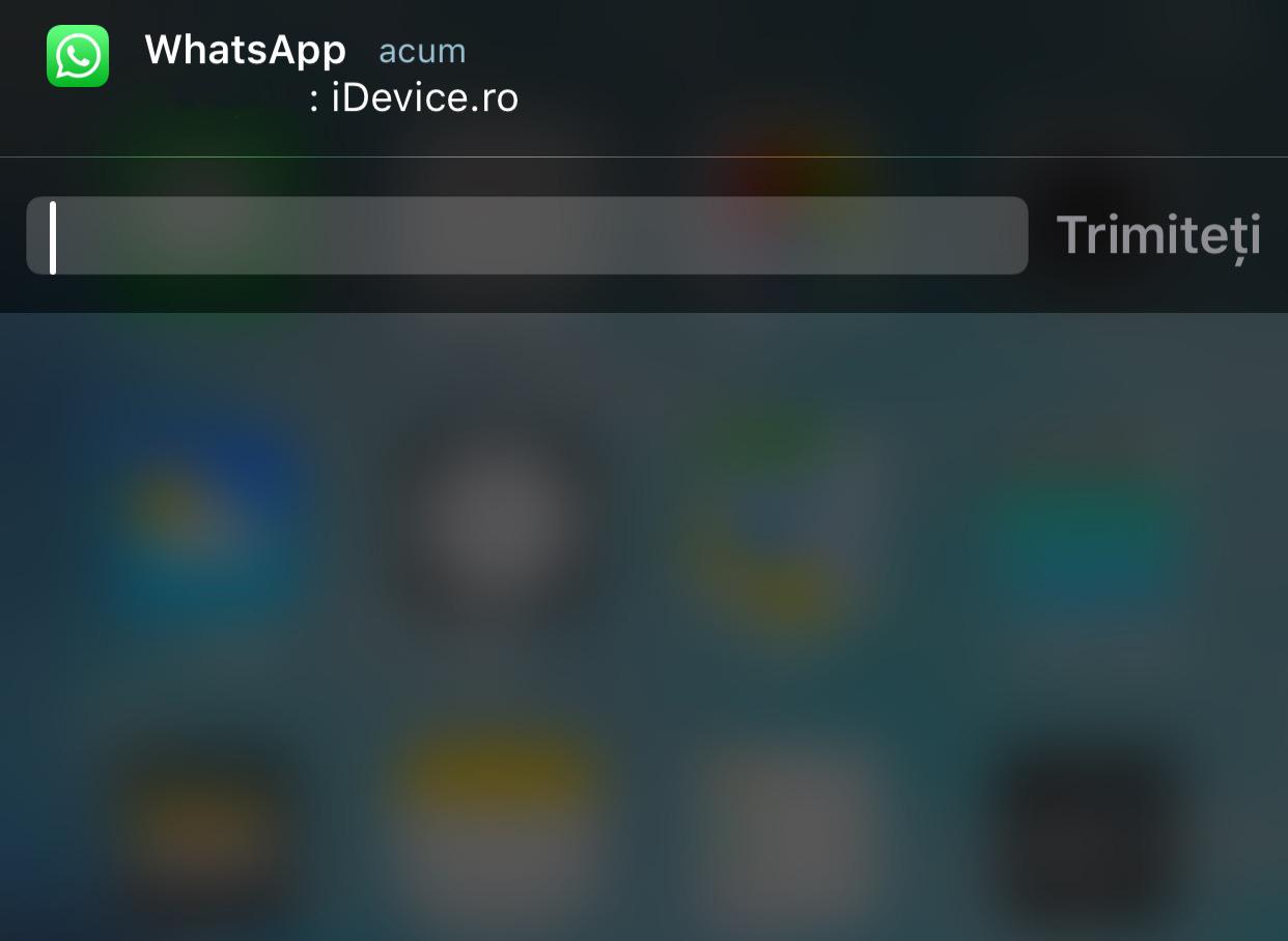 WhatsApp Messenger Quick Reply iOS 9