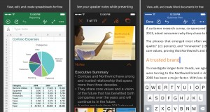 Word Excel Powerpoint iOS