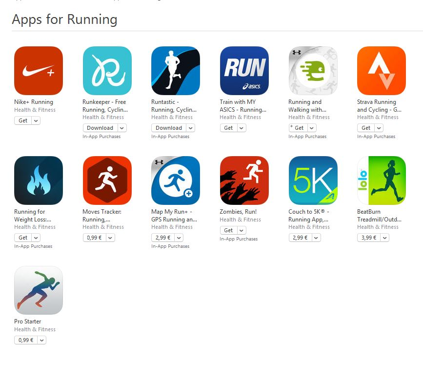 aplicatii pentru alergare