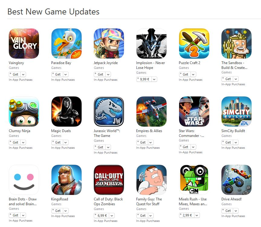 best new games ios