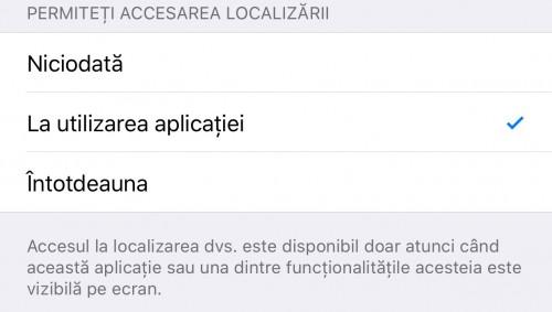 blocare localizare aplicatii iOS 1