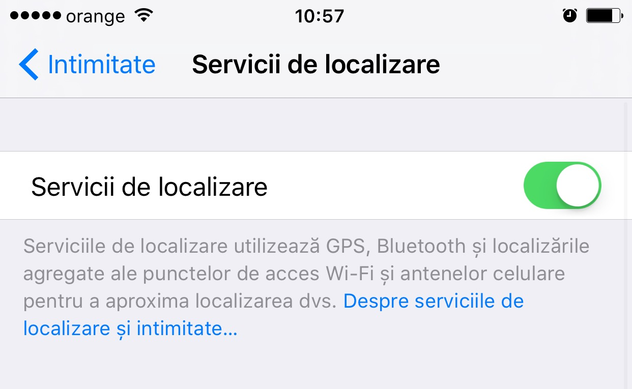 blocare localizare aplicatii iOS