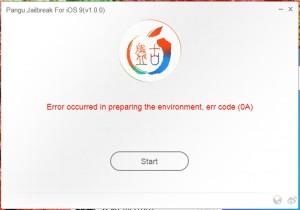 eroare 0A Pangu9 iOS 9 jailbreak