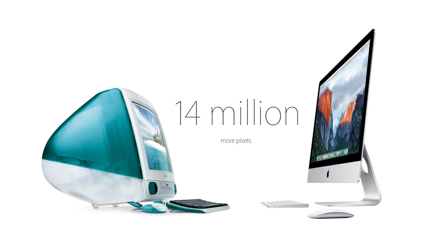evolutie iMac Apple
