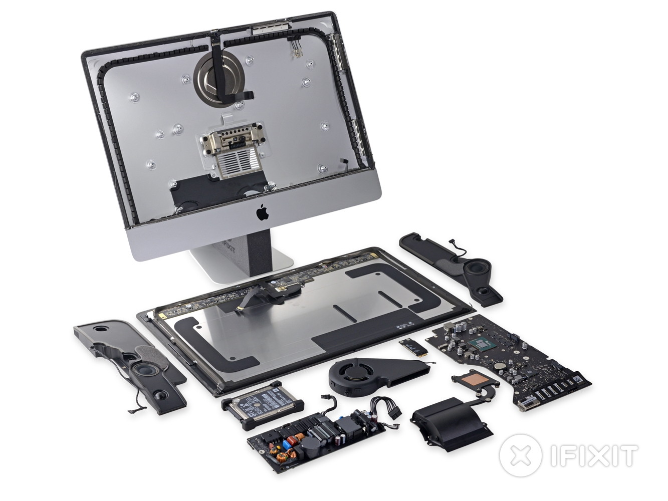 iMac 4K 21.5 inch dezasamblare Magic Mouse 2 Magic Trackpad 2 Magic Keyboard 2