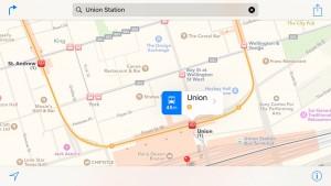 iOS 9 rute transport in comun