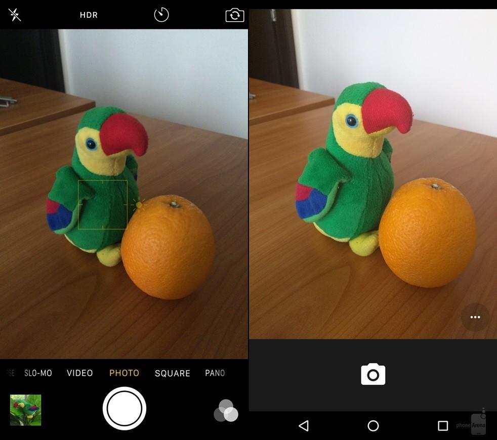 iOS 9 vs Android 6 Marshmallow - comparatie design 9