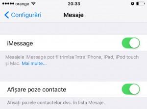 iOS 9.1 afisare ascundere contacte mesaje