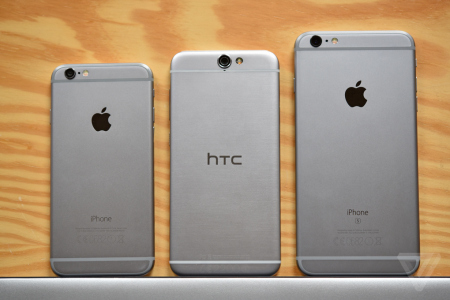 iPhone 6 vs HTC One A9 comparatie design 1