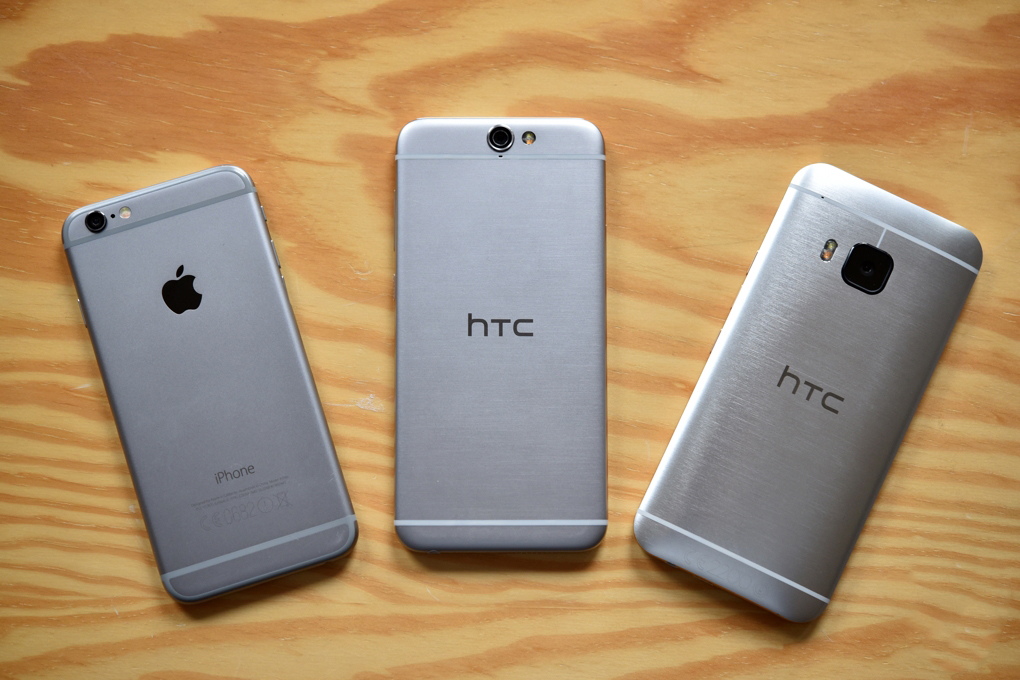 iPhone 6 vs HTC One A9 comparatie design