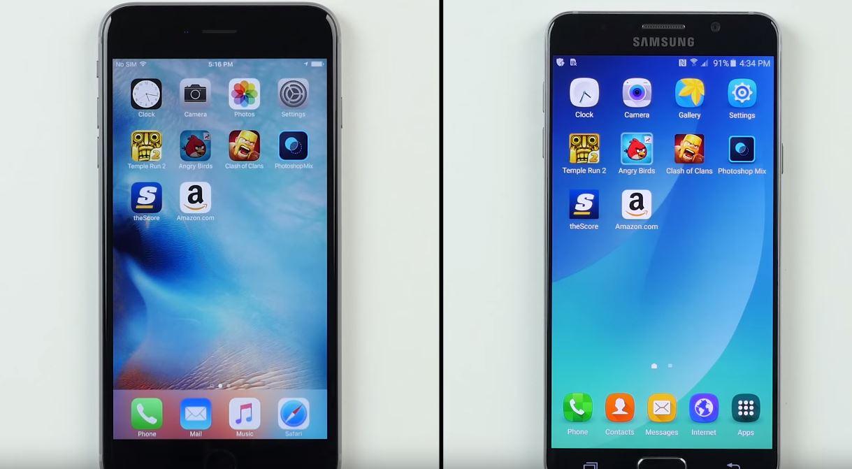 iPhone 6S Plus umileste Galaxy Note 5 in performante