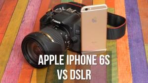 iPhone 6S vs Canon 650D DSLR - comparatia camerelor