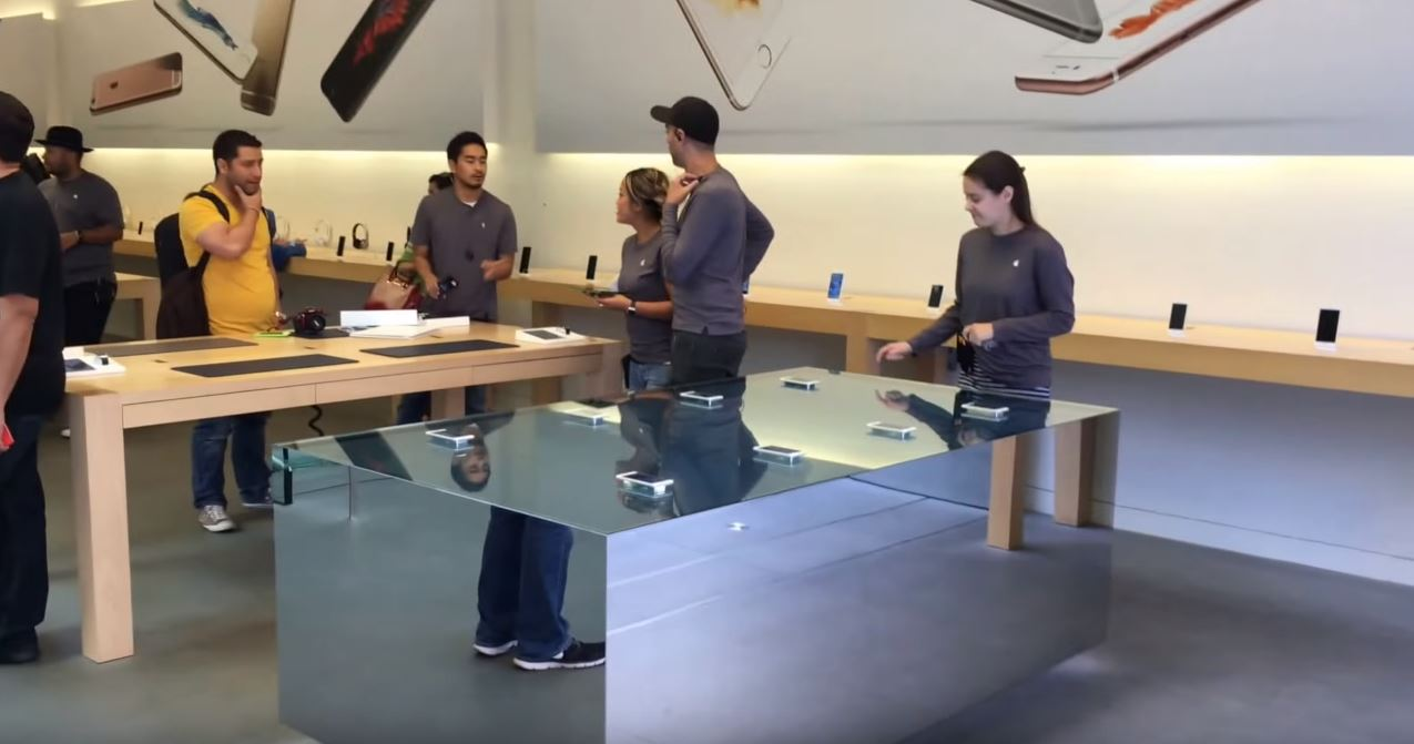 masa 3D Touch Apple Store