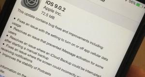 probleme instalare iOS 9.0.2