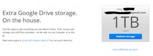 1 Tb spatiu gratuit Google Drive