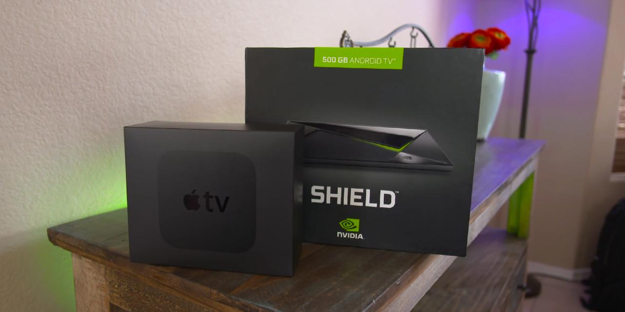 Apple TV 4 Nvidia Shield