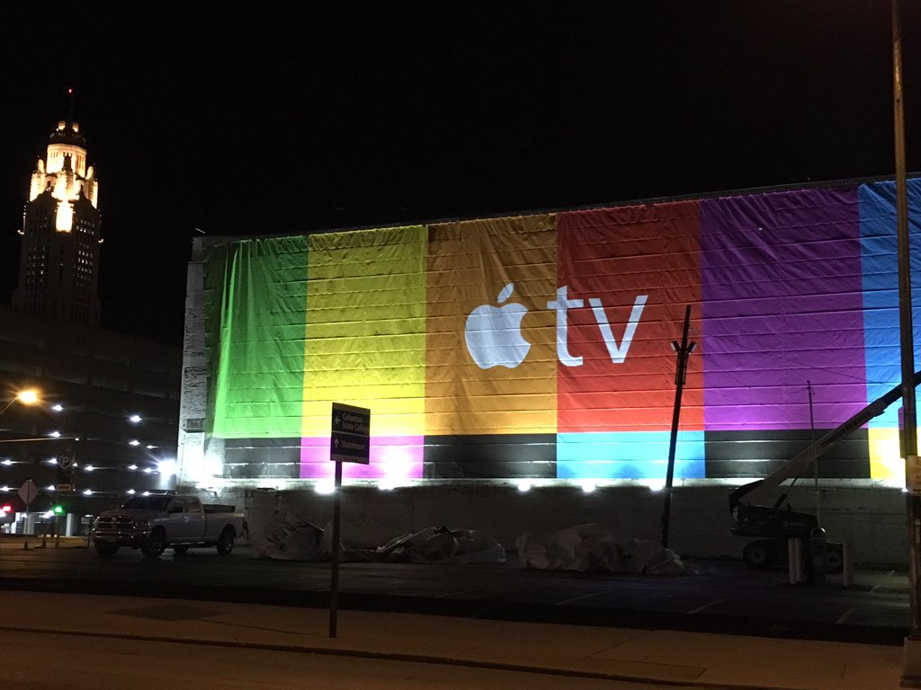 Apple TV reclama cladire 1