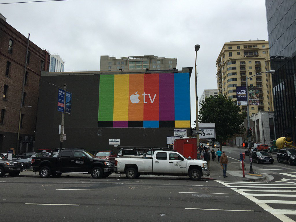 Apple TV reclama cladire