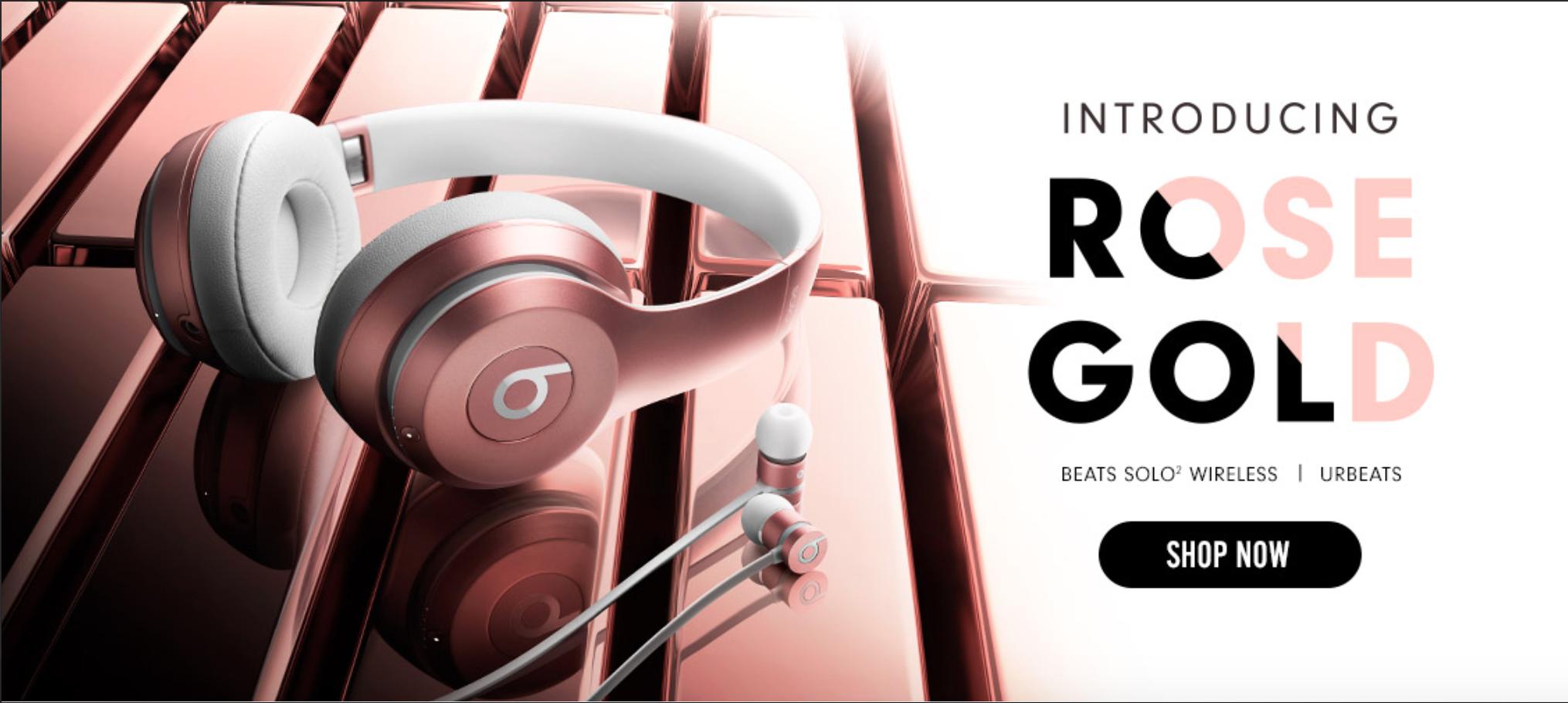 Beats Solo 2 URBeats rose gold