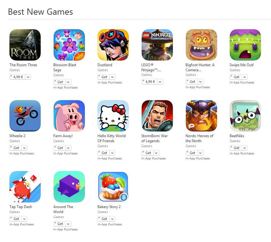 Best New Games App Store