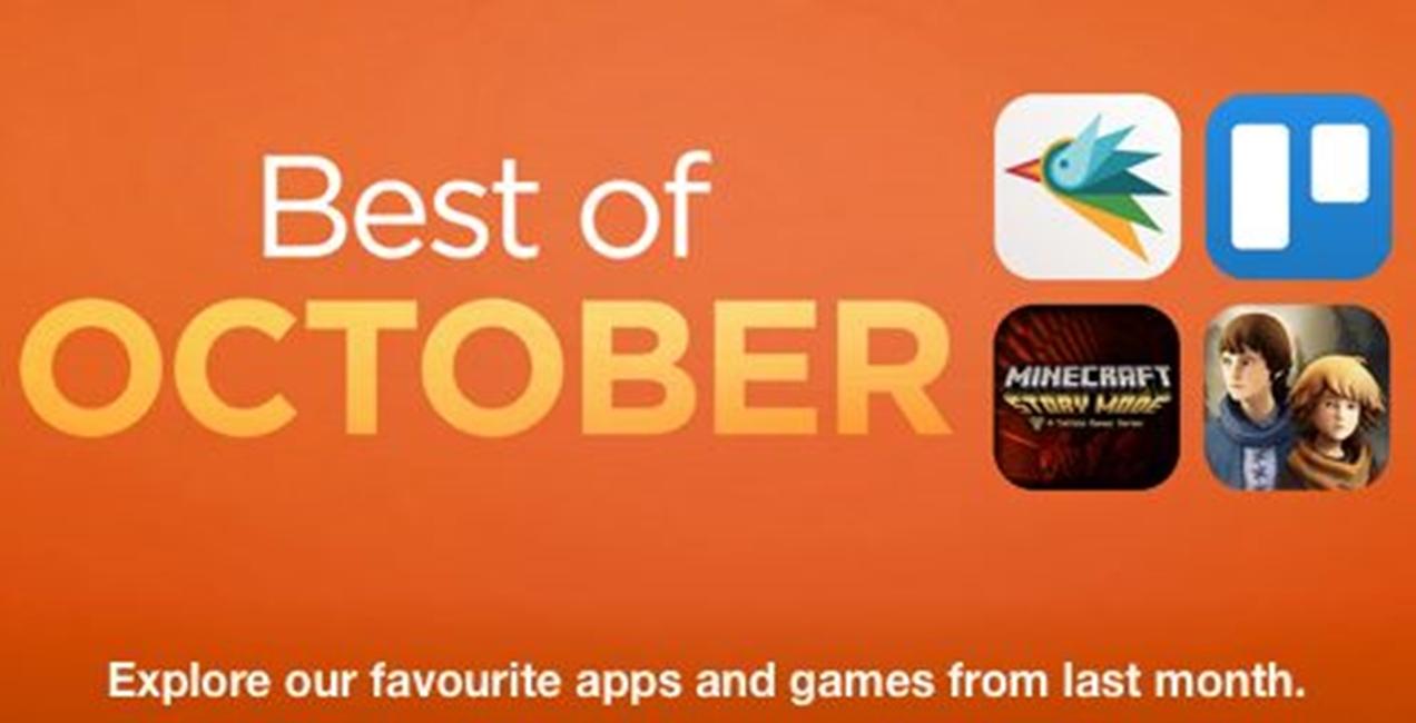 Cele mai bune aplicatii ale lunii octombrie