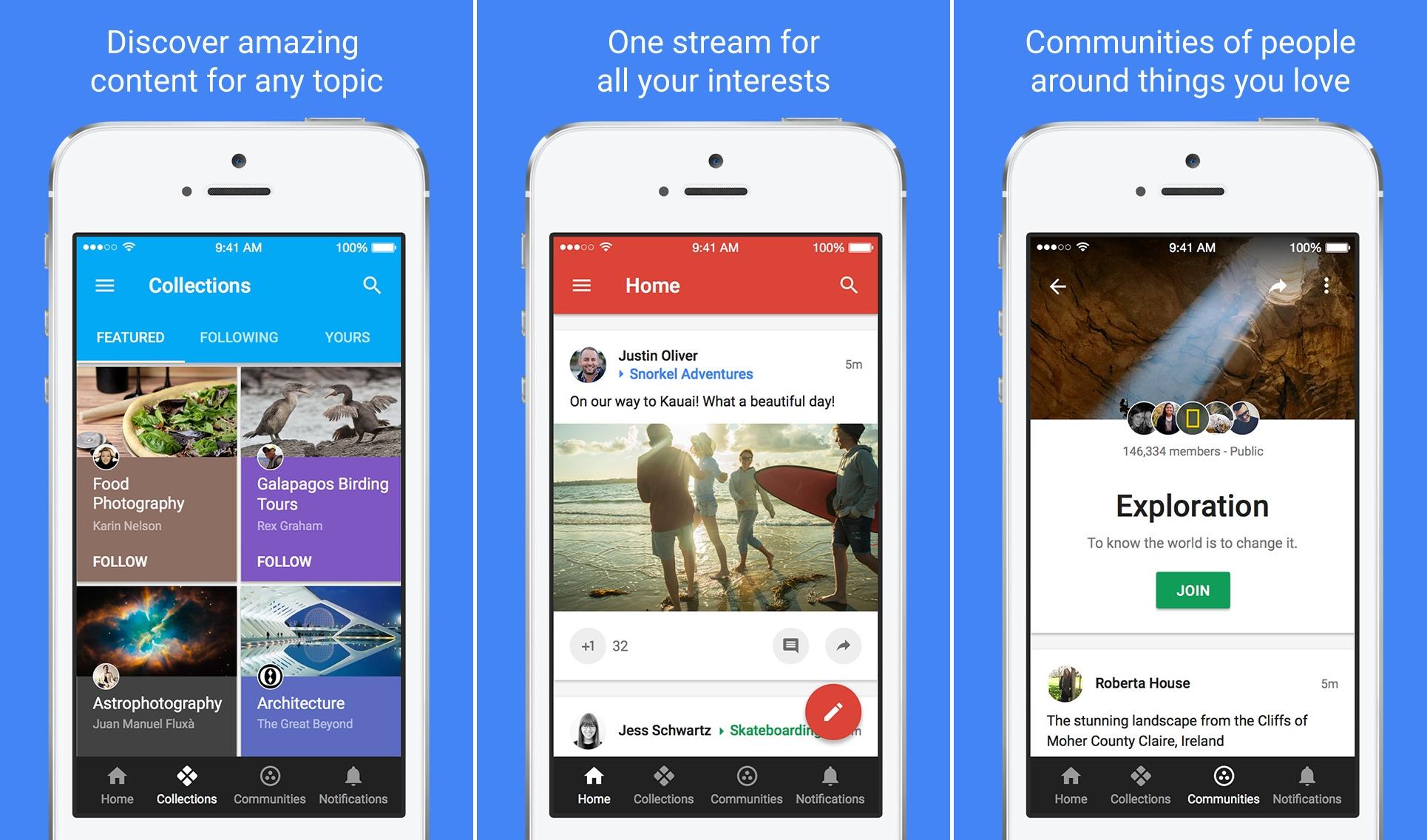 Google+ design nou