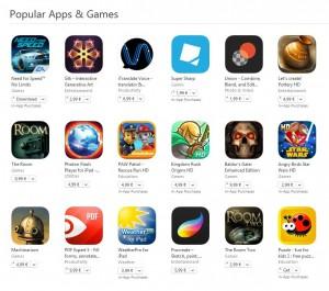 Jocuri si aplicatii populare pentru iPhone si iPad