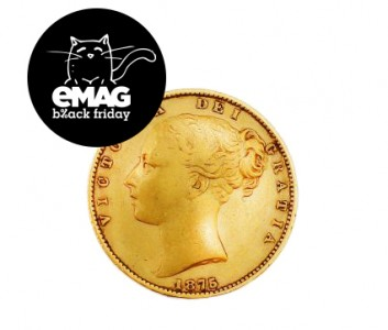 Moneda de aur eMAG Black Friday