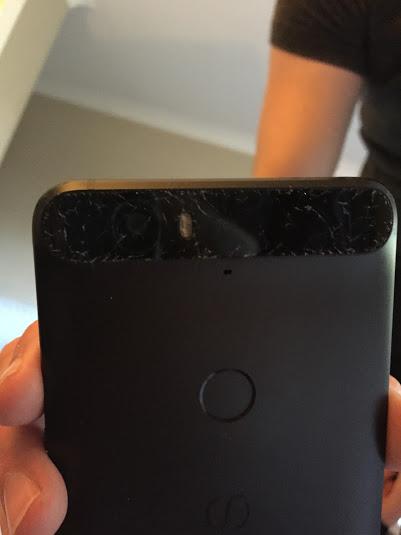 Nexus 6P panou protectie camera crapat 1