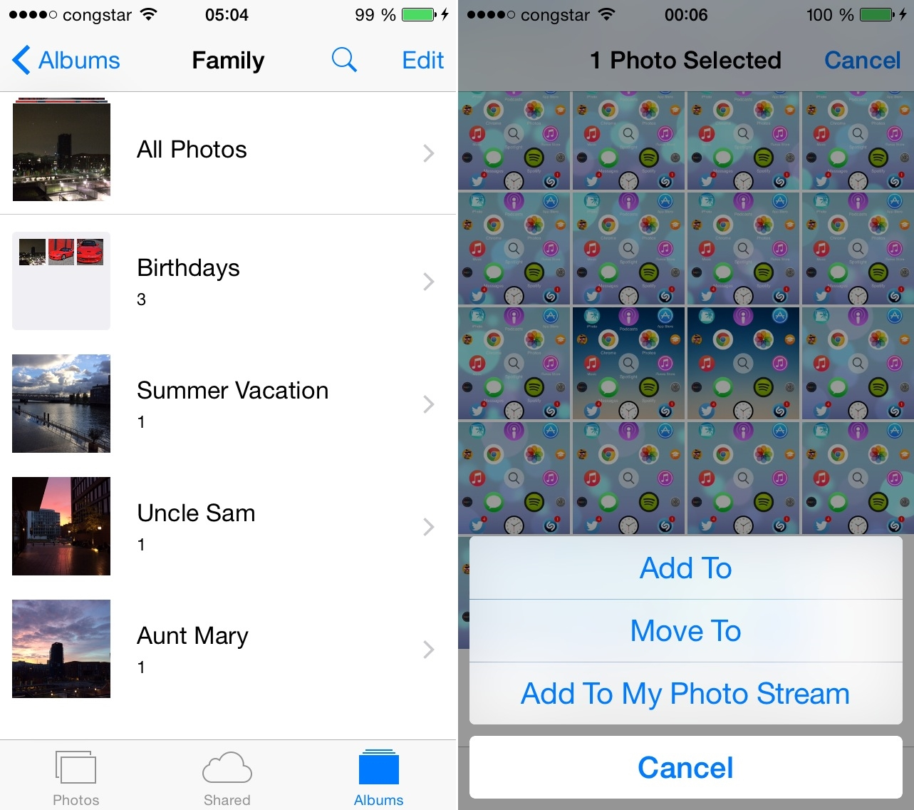 PhotoAlbums+ iOS 9