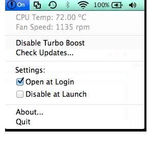 dezactivare Tubo Boost Mac