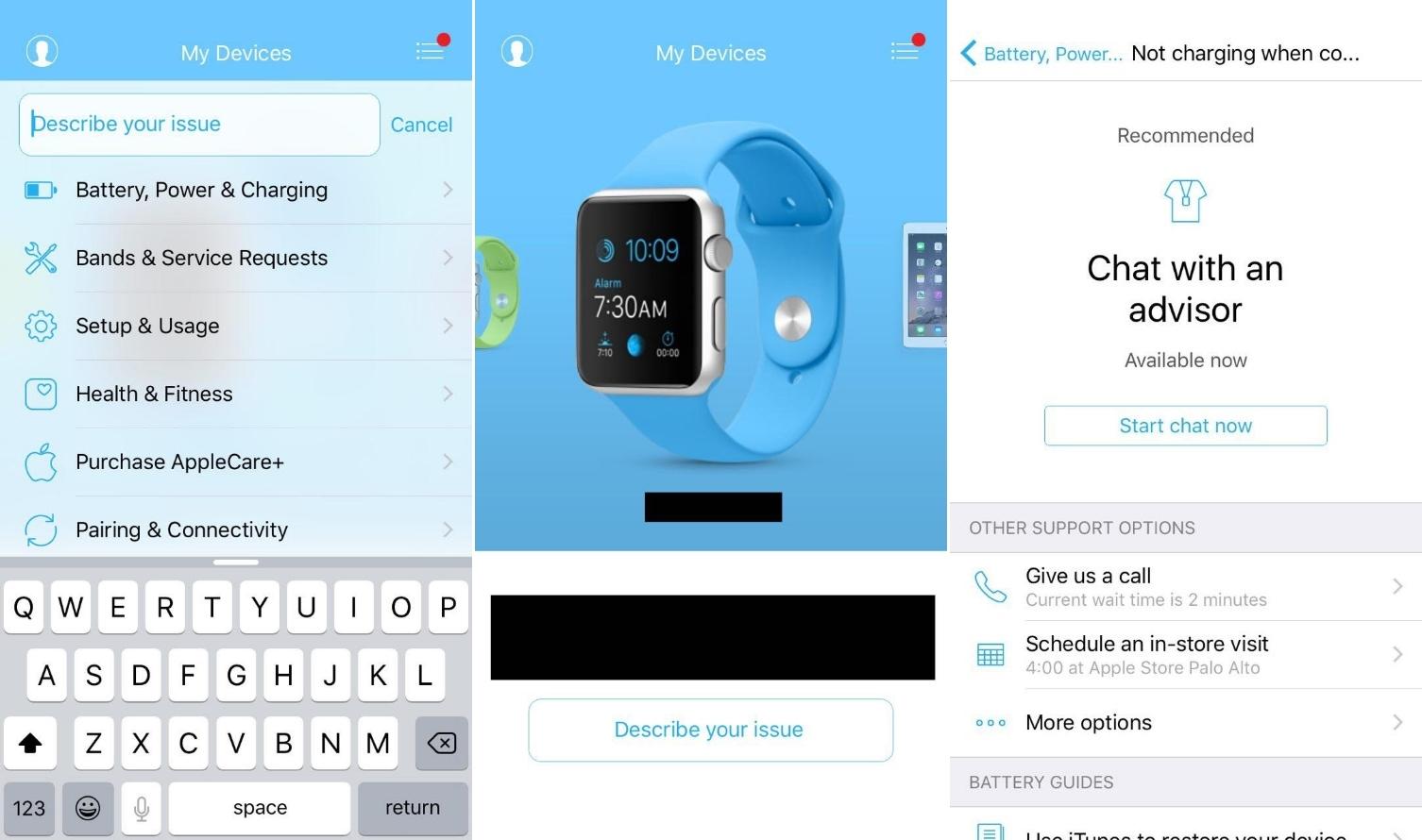aplicatie ajutor Apple