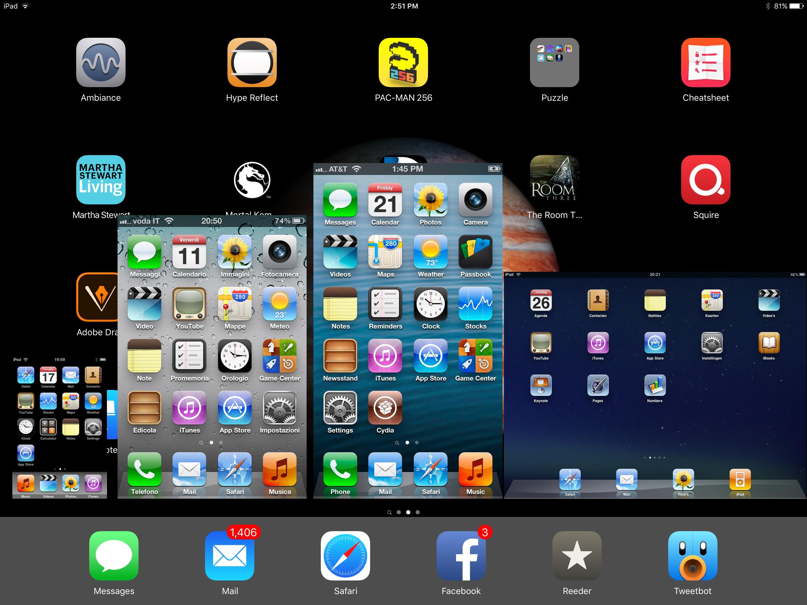 iPad Pro rezolutie iPhone 4 iPhone 5